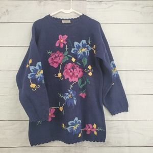 Northern Reflection Floral Knit Sweater